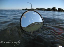Mirror in water, Washaway Beach